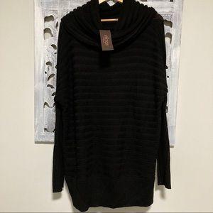 NWT Victor Alfaro long black oversize knit sweater
